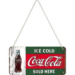 Metalen hangbord Coca Cola...