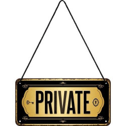 Metalen hangbord Private