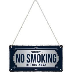 Metalen hangbord No Smoking