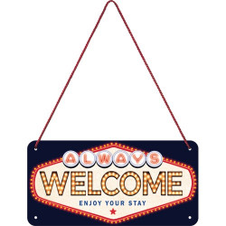 Metalen hangbord Welcome