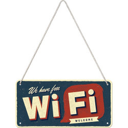 Metalen hangbord Free WiFi