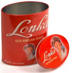 Vintage ovaal blik Lonka rood
