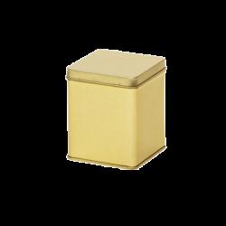 Vierkant blik goud 100 gr