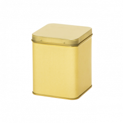 Vierkant blik goud 200 gr