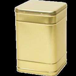 Vierkant blik goud 2,5 kg